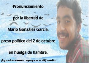 PRONUNCIAMIENTO MARIO GONZALEZ