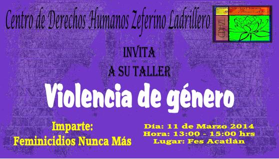 marzo | 2014 | Centro de Derechos Humanos Zeferino
