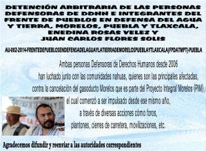 DETENCIÓN ARBITRARIA DE LAS PERSONAS