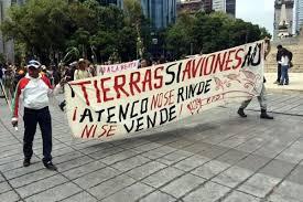 ¡Tierra SÍ Aviones NO! / Foto tomada de Vida Mexiquense
