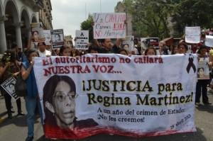 Homicidio de Regina Martínez: mil días de impunidad. / Foto: Noé zavaleta. Proceso