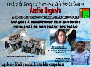 Ataques a defensores comunitarios indígenas de san francisco magú