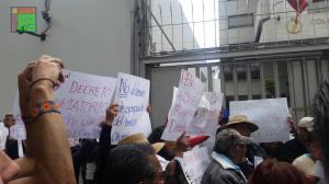 Pobladores de Xochicuautla piden a CDNH detener autopista construida por filial de Grupo Higa / Foto: CDHZL