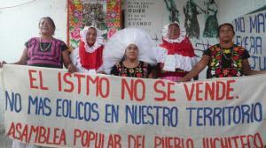 mujeres indígenas del Istmo de Tehuanpetec, Oaxaca, en defensa de su territorio /Foto: Educa