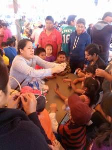 Talleres para niños en la comunidad  de Coyotepec el 29 de noviembre organizados por los y las defensoras del agua