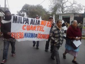 Comuneros de Milpa Alta se oponen a base naval / Foto: Subversiones