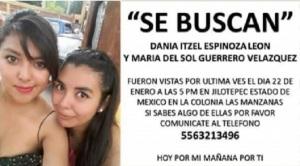 Encuentran en Edomex los cuerpos de 2 jóvenes desaparecidas desde el viernes / Foto: Emequis