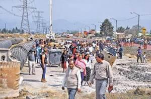 Protestan en San Mateo Atenco por obras del tren interurbano / Foto: El Sol de Toluca