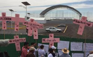 Protestan por feminicidios en Ecatepec previo a visita del papa / Foto: Emilio Fernández - El Universal