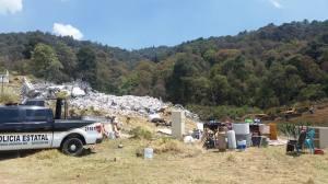 Destrucción de la casa del primer delegado de Xochicuautla / Foto: CDHZL
